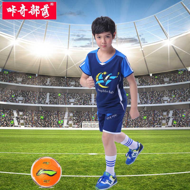 咔奇部落童装品牌2020春夏儿童足球服套装小孩男童夏装短袖运动训练服学生球衣队服团购