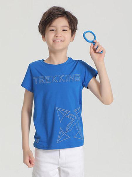 探路者童装童装品牌2020春夏男童户外弹力透气速干短袖T恤