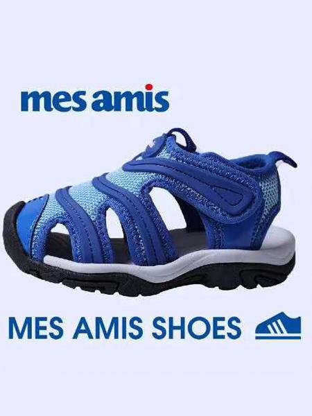 蒙蒙摩米 Mes amis童鞋品牌2020春夏蓝色休闲凉鞋