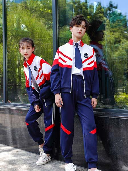 曼尔菲菲校服园服2020春夏休闲薄款透气校服两件套