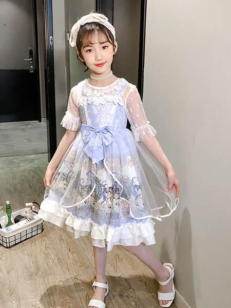 梦幻大道童装品牌2020春夏女童甜美洛丽塔连衣裙