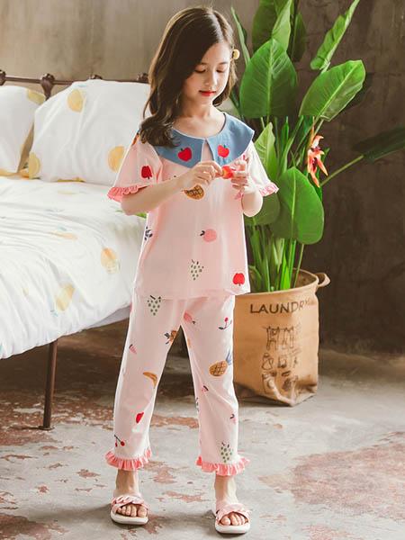 梦幻大道童装品牌2020春夏甜美纯棉长袖睡衣套装