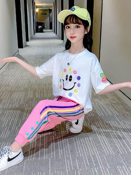 梦幻大道童装品牌2020春夏休闲女童纯棉套装