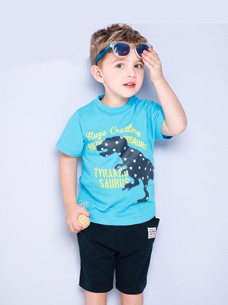 吉哩熊童装品牌2020春夏纯棉男童休闲短袖