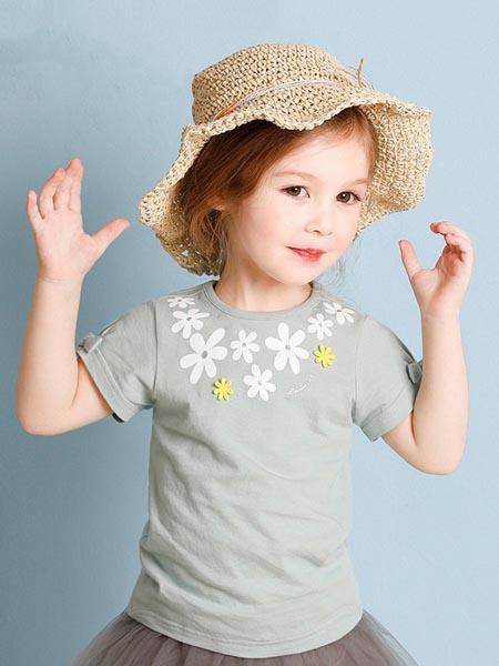 吉哩熊童装品牌2020春夏纯棉印花图案短袖