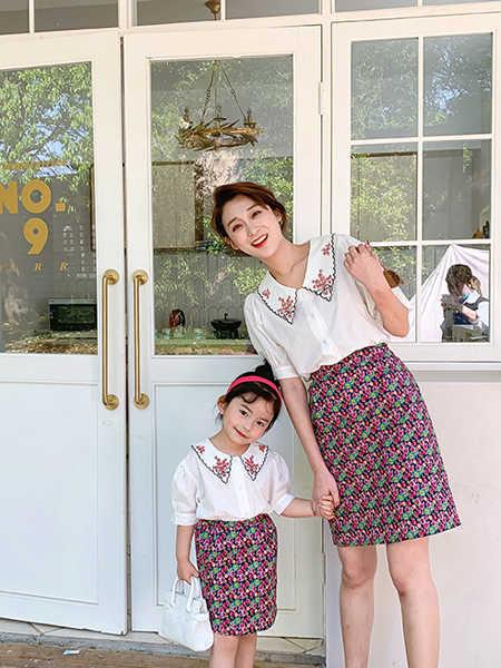 一起玩童装品牌2020春夏亲子装母女套装裙