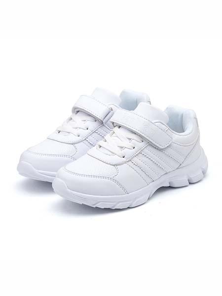 米派星童鞋品牌2020春夏儿童白鞋男童小白鞋新款学生休闲鞋跑步鞋女童白色运动鞋