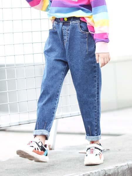 华之盛童装品牌2020春夏新款女童牛仔裤童装女童裤子中大童儿童长裤韩版