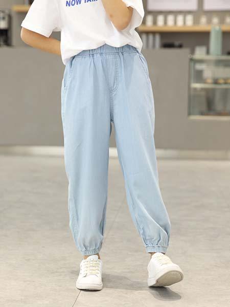 华之盛童装品牌2020春夏女童牛仔裤子新款中大童冰丝防蚊裤宽松薄款儿童抖抖裤
