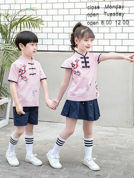 唐园坊童装品牌2020春夏民族风中小童套装