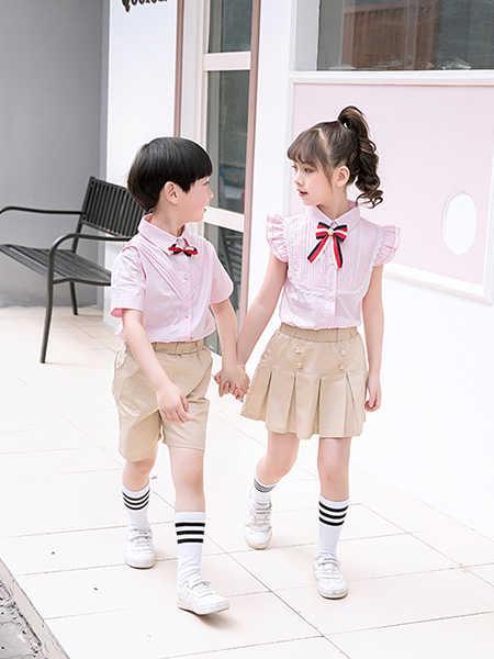 唐园坊童装品牌2020春夏纯棉棉麻短袖套装