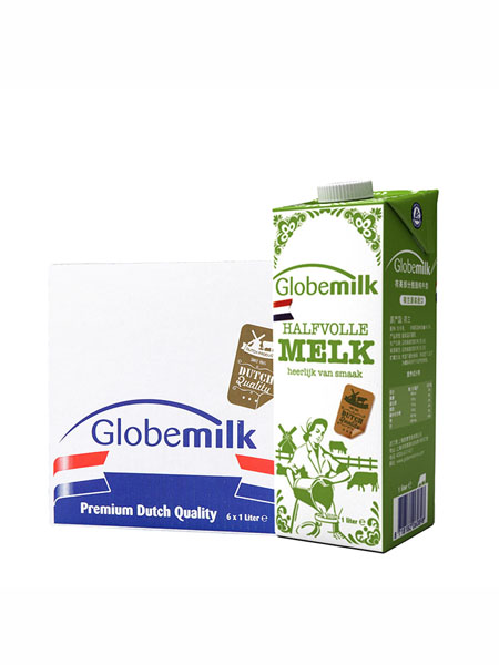Globemilk婴儿食品欧盟有机认证荷兰进口有机全脂纯牛奶 高钙学生儿童牛奶24*200ml