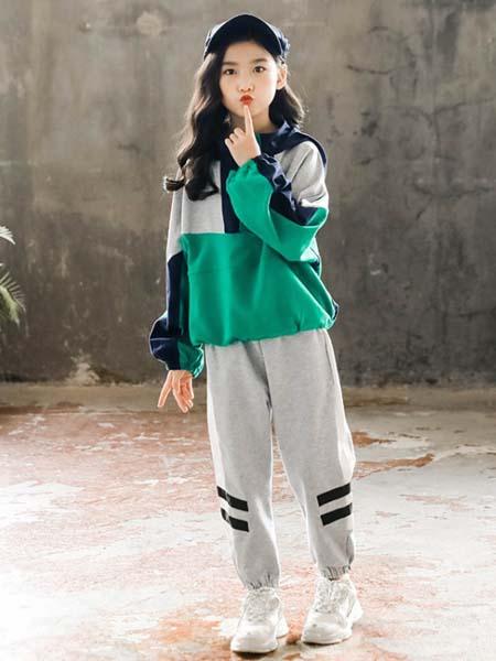 郝月琴童装品牌2020春夏休闲运动套装两件套