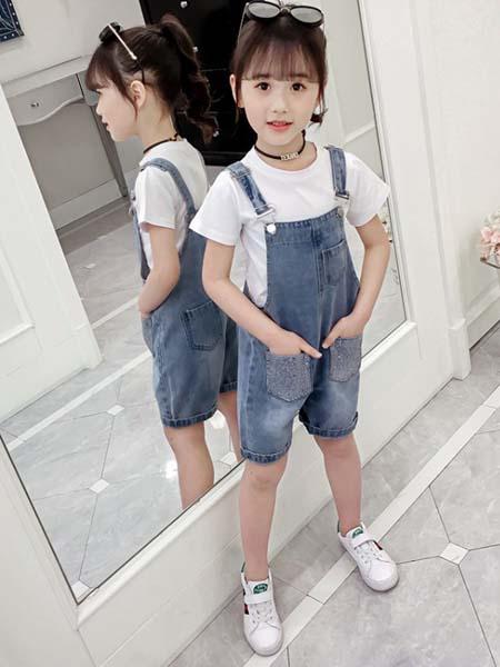 郝月琴童装品牌2020春夏棉麻木耳边衬衫