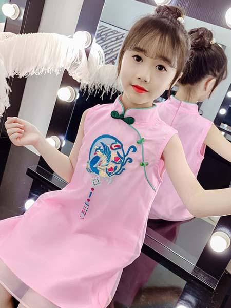 郝月琴童装品牌2020春夏复古风旗袍裙