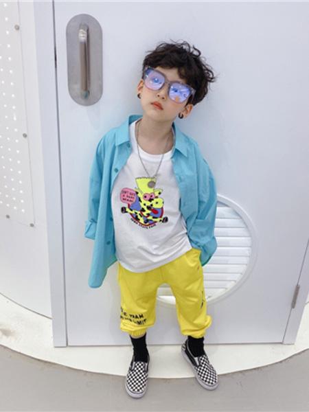 AoAoMao童装品牌2020春夏浅蓝色衬衫
