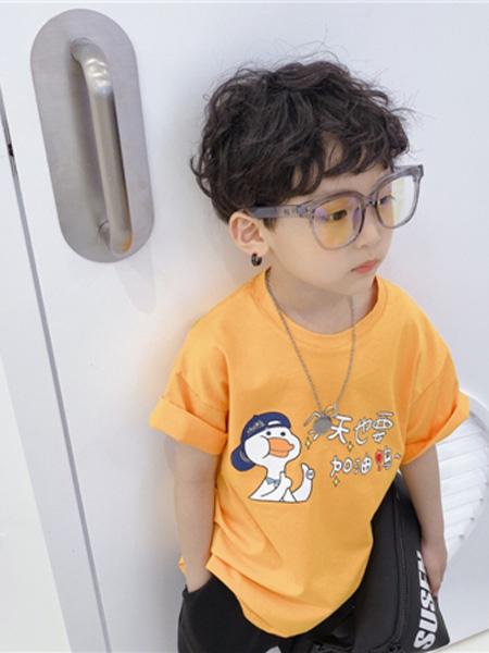 AoAoMao童装品牌2020春夏黄色T恤