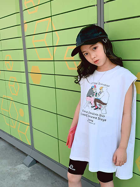 IXIT童装品牌2020春夏印花纯棉无袖背心短袖
