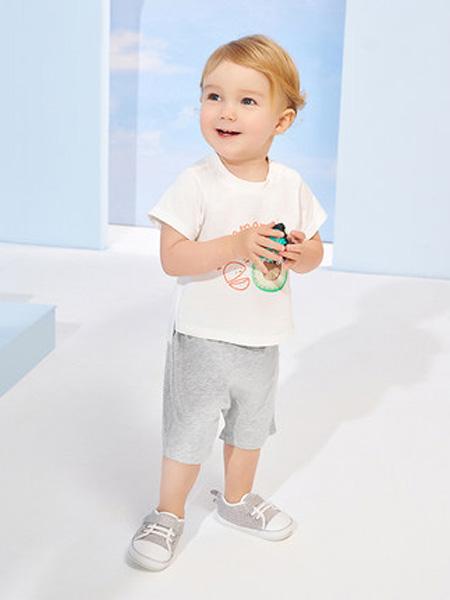 英氏童装品牌2020春夏儿童短袖T恤男女孩打底衫春装上衣2020夏季薄款纯棉