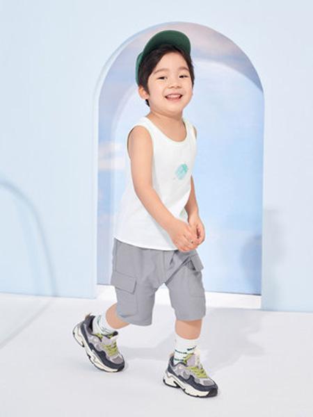 英氏童装品牌2020春夏背心男童拼接圆领趣味印花外穿夏季新品