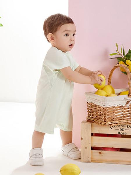 英氏童装品牌2020春夏婴儿连体衣男宝宝夏季新品