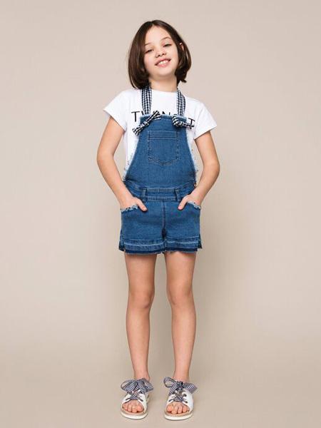 TWINSET童装品牌2020春夏蓝色背带裤