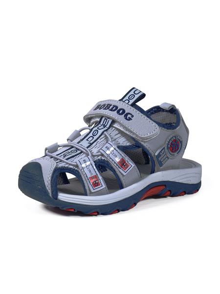 巴布豆童鞋品牌2020春夏深灰色涼鞋
