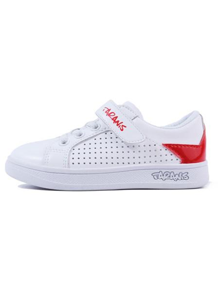 泰兰尼斯童鞋品牌2020春夏漏洞透气小白鞋