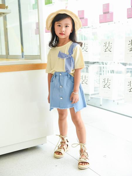首系童装品牌2020春夏可爱减龄背带裙