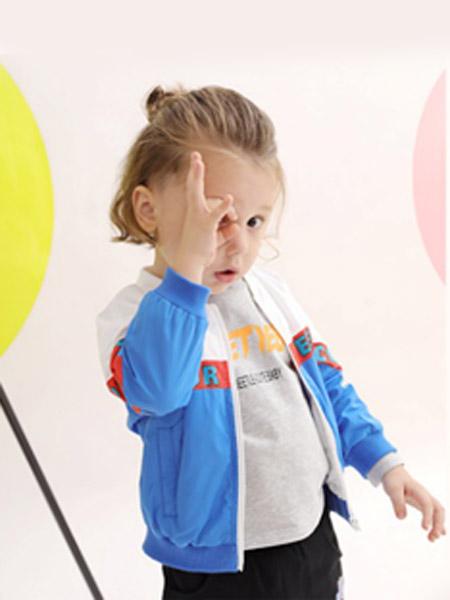 可拉·比特童装品牌2020春夏蓝色白色外套