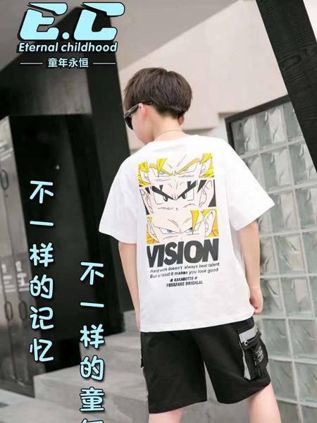 童年永恒童装品牌2020春夏白色T恤