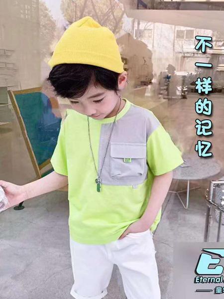 童年永恒童装品牌2020春夏绿色T恤