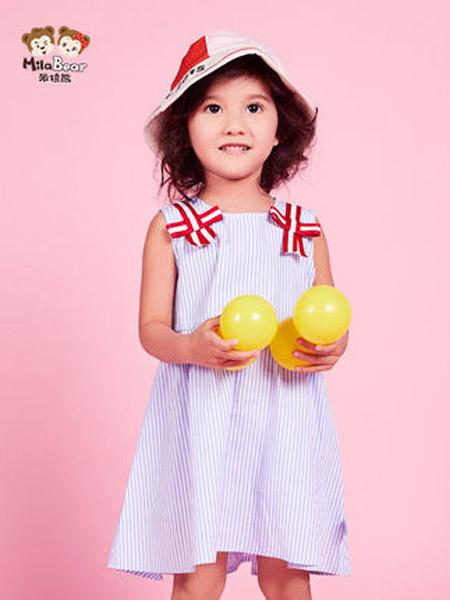 米拉熊童装品牌2020春夏女童背心连衣裙时尚洋气宝宝纯棉透气夏装裙子