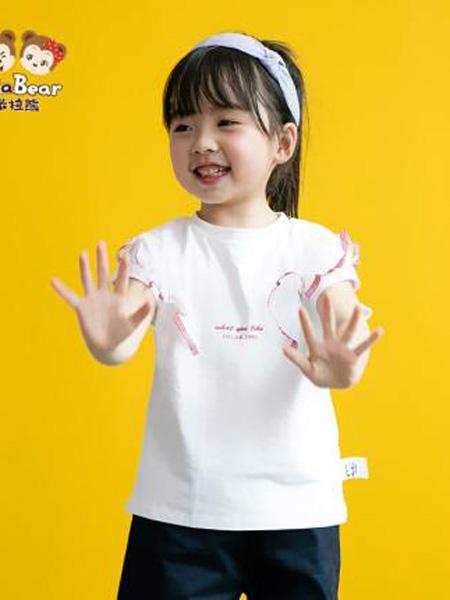 米拉熊童装品牌2020春夏洋气公主短袖T恤衫女婴幼童甜美可爱仙女上衣