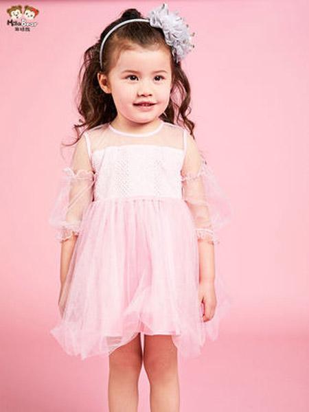 米拉熊童装品牌2020春夏女孩小童网纱连衣裙洋气公主裙子儿童韩版夏装