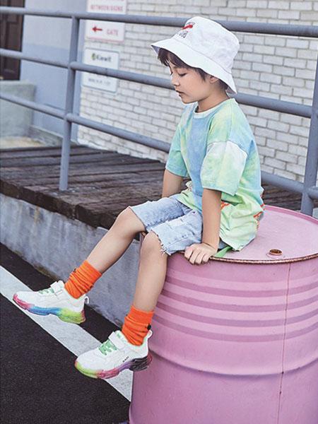 小资范童装品牌2020春夏渐变色绿色T恤