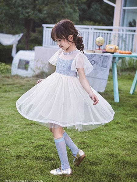 小资范童装品牌2020春夏网纱连衣裙