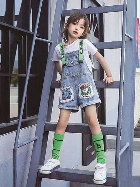 小资范童装品牌2020春夏背带裤牛仔