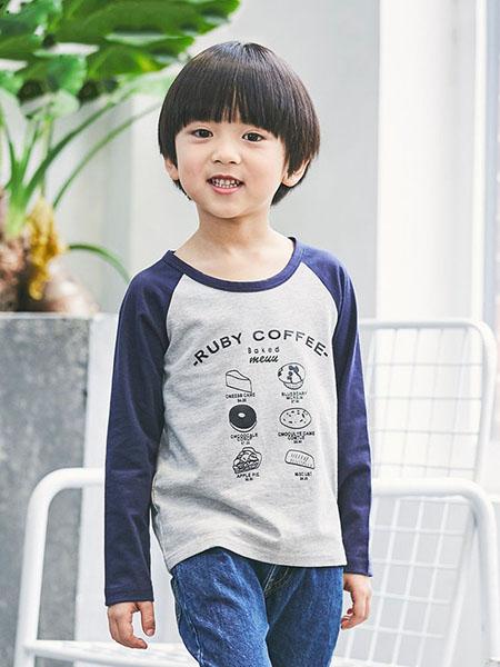 瑞保礼奥童装品牌2020春夏长袖圆领上衣