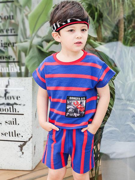 瑞保礼奥童装品牌2020春夏休闲纯棉运动两件套