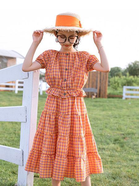 Fred&Ginger童装品牌2020春夏复古时尚女童连衣裙