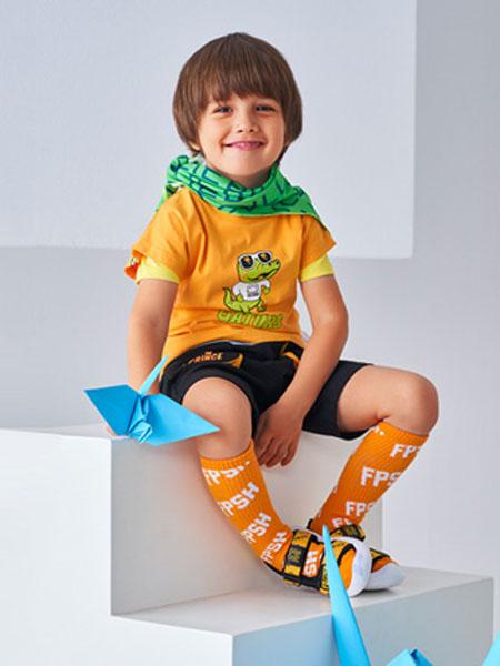 青蛙王子童装品牌2020春夏青蛙黄色T恤