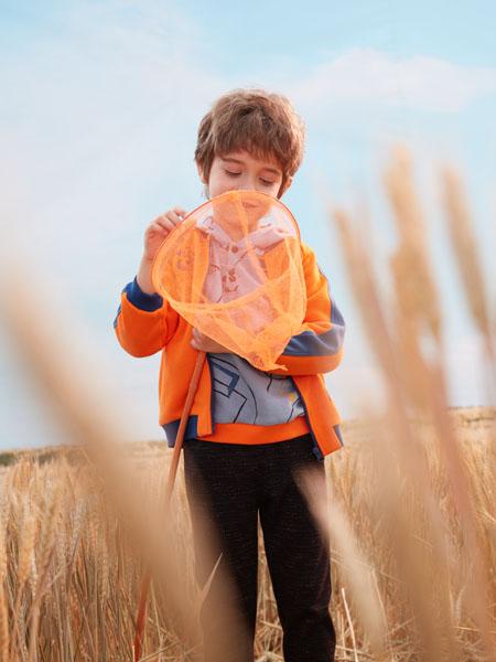 蒙蒙摩米 Mes amis童装品牌2020春橙色外套