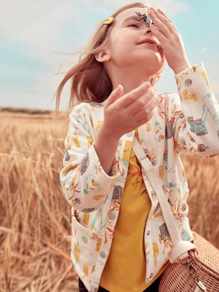 蒙蒙摩米 Mes amis童装品牌2020春白色碎花外套