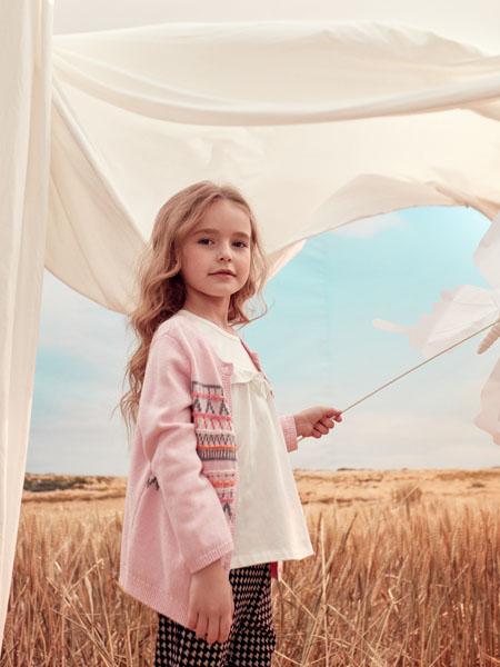 蒙蒙摩米 Mes amis童装品牌2020春粉色针织衫外套