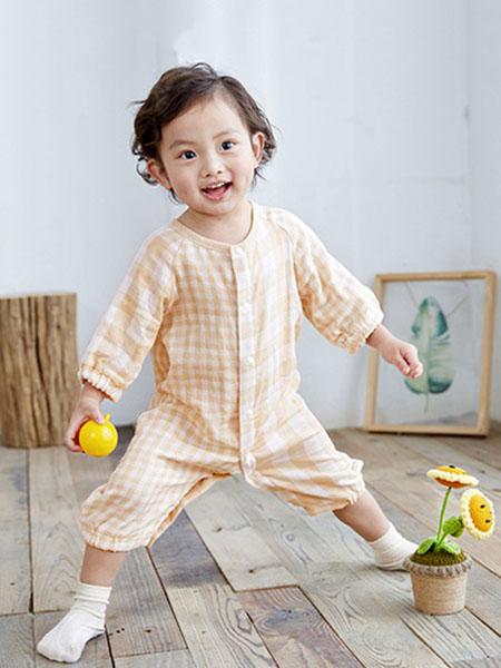 阮棉棉童装品牌2020春夏棉麻轻肤宝宝连体衣