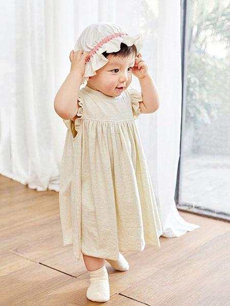 阮棉棉童装品牌2020春夏棉麻女童连衣裙