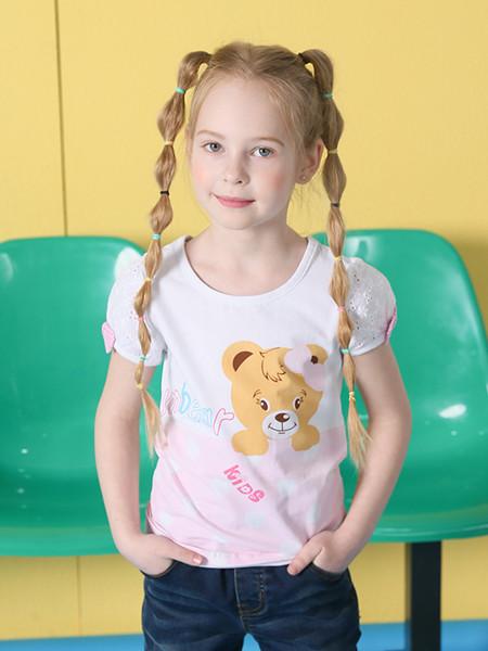 杰米熊童装品牌2020春夏T恤短袖儿童打底衫小童宝宝上衣纯棉