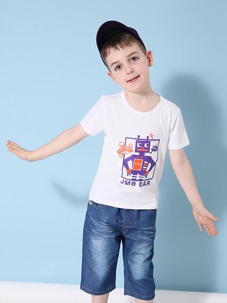 杰米熊童装品牌2020春夏新款男中童卡通上衣洋气半袖t恤潮
