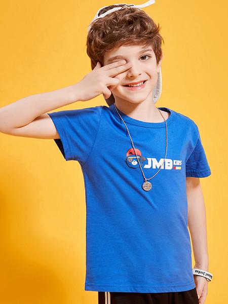 杰米熊2020春夏男童宝宝短袖薄款小熊圆领时尚休闲T恤潮